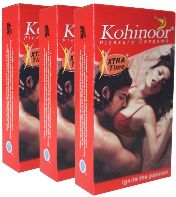 Kohinoor Xtra Time (10Pcs) (Pack of 3) total 30 Qty Condom(Set of 3, 30S)
