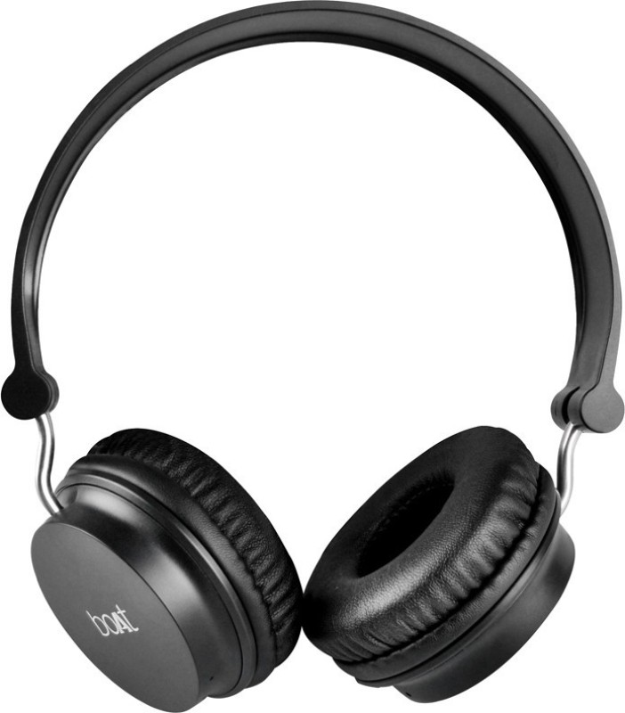boAt Rockerz 400 Super Bass Bluetooth Headphone(Black, On the Ear)