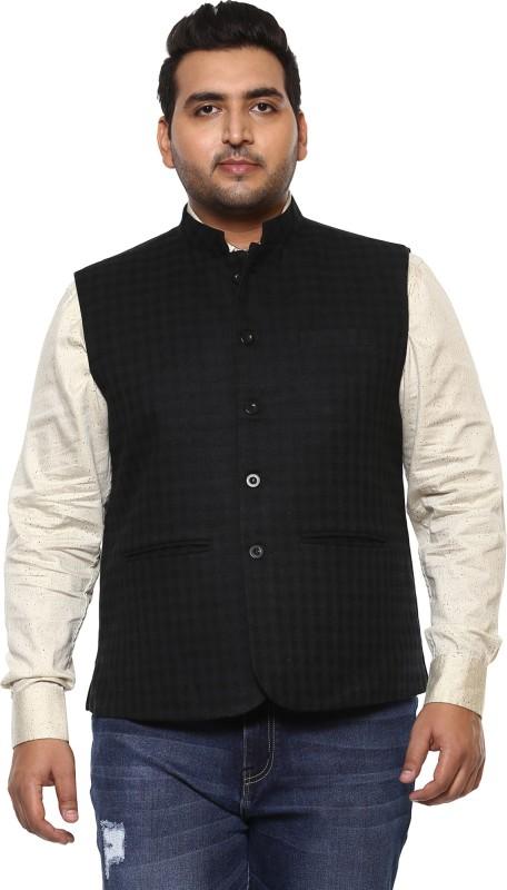 John Pride Sleeveless Checkered Men Jacket