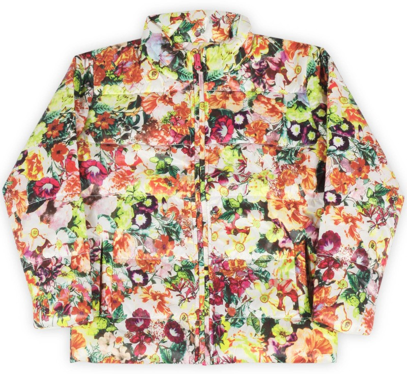 612 League Full Sleeve Floral Print Girls Jacket