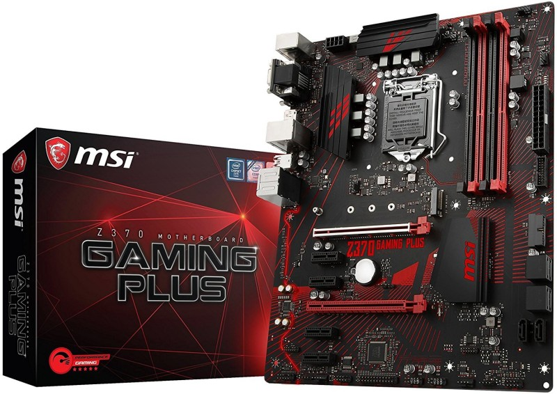 MSI Z370 GAMING PLUS Motherboard(Black)