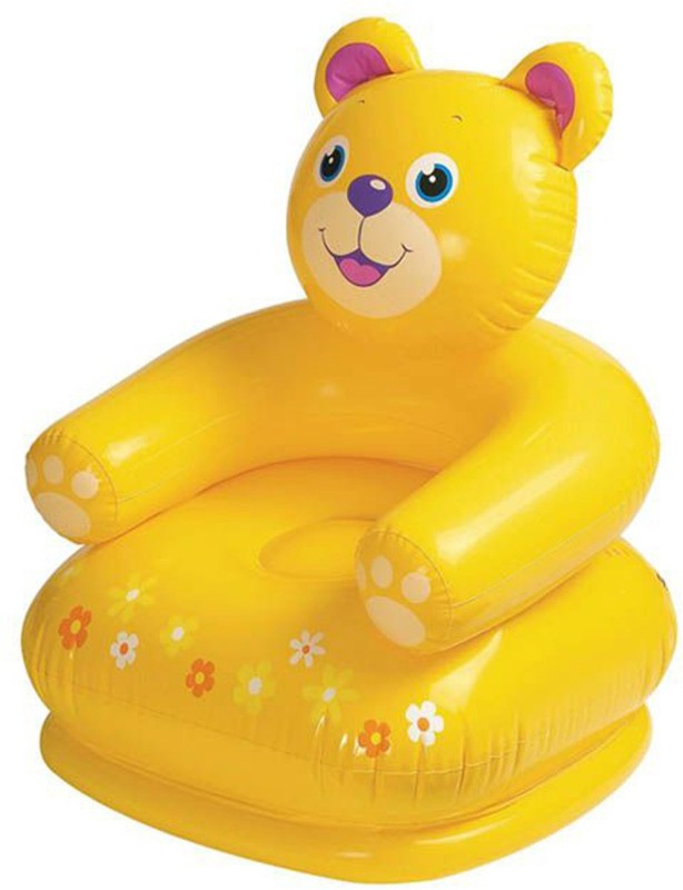 navkar Air Toy Teddy Chair for Baby(Yellow)