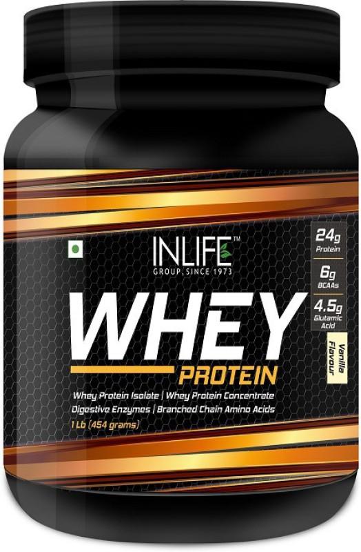Inlife 1Lb Whey Protein(454 g, Vanilla)