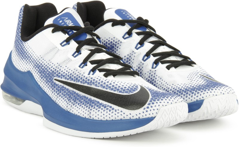 Nike AIR MAX INFURIATE LOW Basketball Shoes For Men(Blue, White)