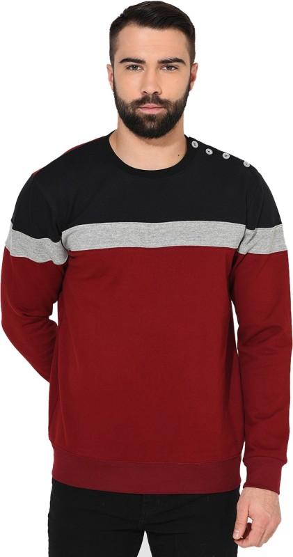 Gritstones Full Sleeve Striped Mens Sweatshirt