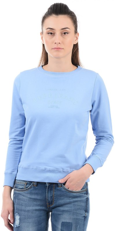 Pepe Jeans Full Sleeve Solid Womens Sweatshirt
