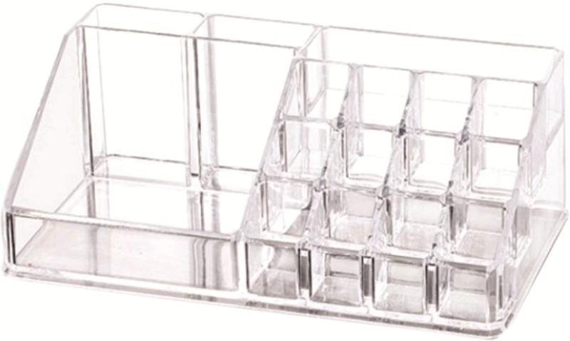 SYGA Large Crystal Clear Transparent Acrylic Cosmetic Jewellery Box Nail Art Organiser Multi Purpose Vanity Box Vanity Box(Transparent)