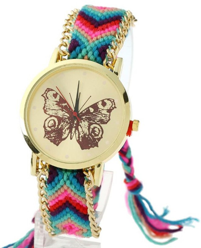 Keepkart 0011 Butterfly Dial Geneva Platinum Friday Watch For Women And Girls Watch - For Girls