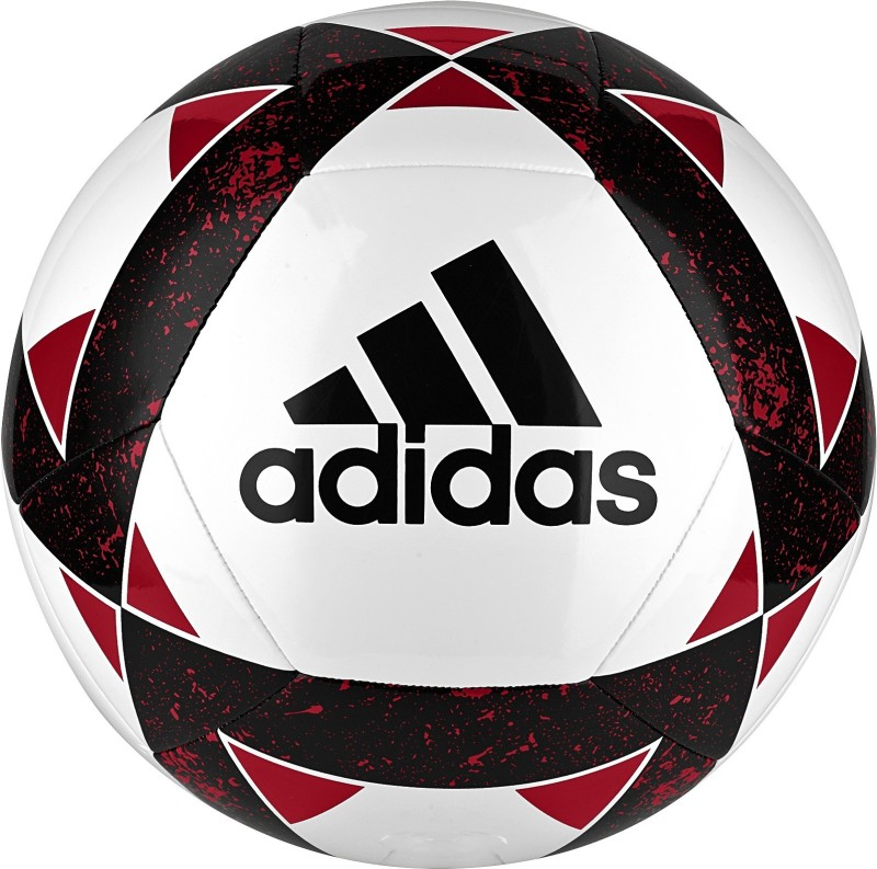 ADIDAS Starlancer V Football - Size: 5(Pack of 1, White, Black, Red)
