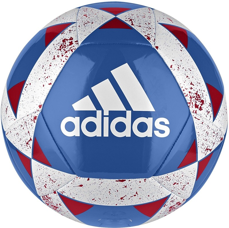 ADIDAS Starlancer V Football - Size: 5(Pack of 1, Blue, Red, White)