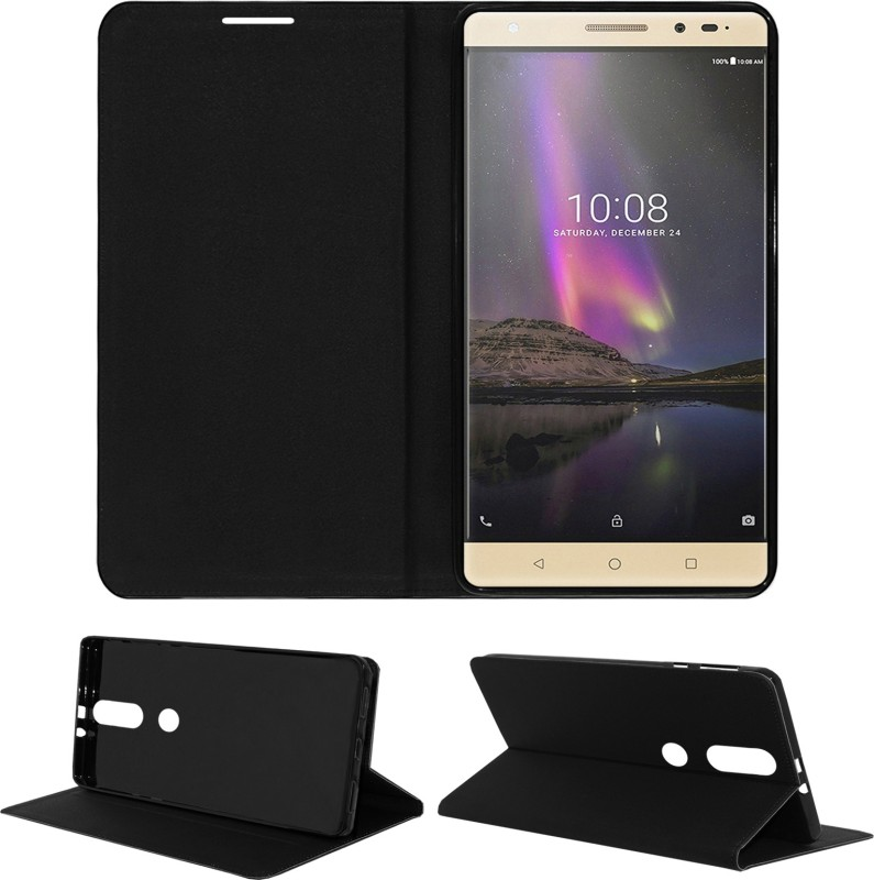 ACM Flip Cover for Lenovo Phab 2 Plus(Black, Cases with Holder, Artificial Leather)