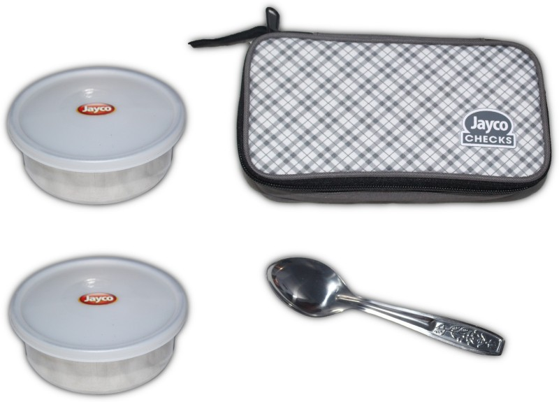 Akshat Checks Insulated Tiffin jayco 2 Containers Lunch Box(200 ml)