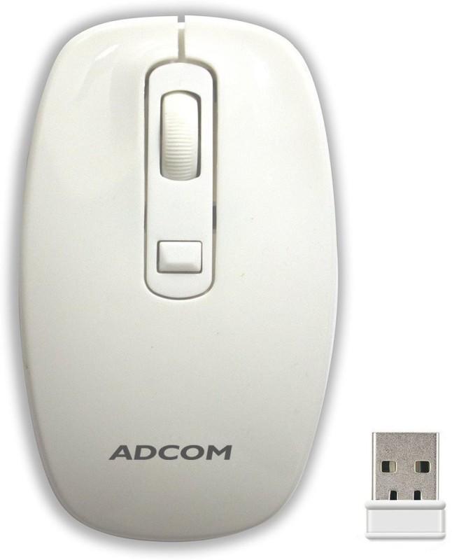 Adcom Wireless M-006 Wireless Optical Mouse(USB, White)