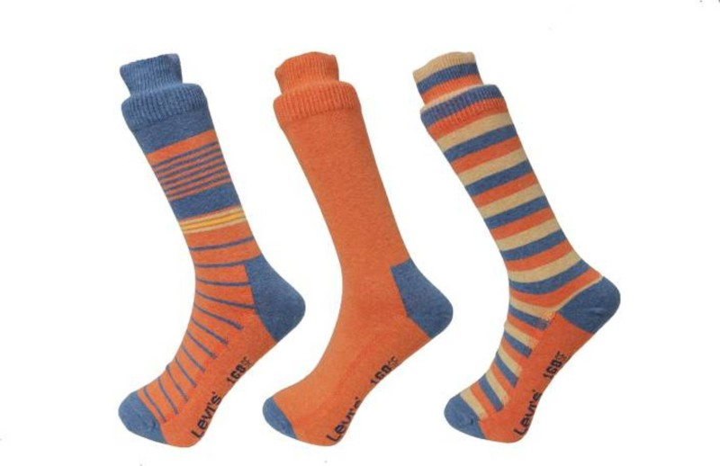 Levis Mens Crew Length Socks(Pack of 3)