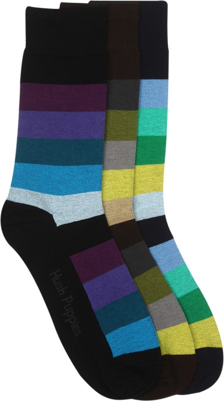 Hush Puppies Mens Mid-Calf/Crew(Pack of 3)