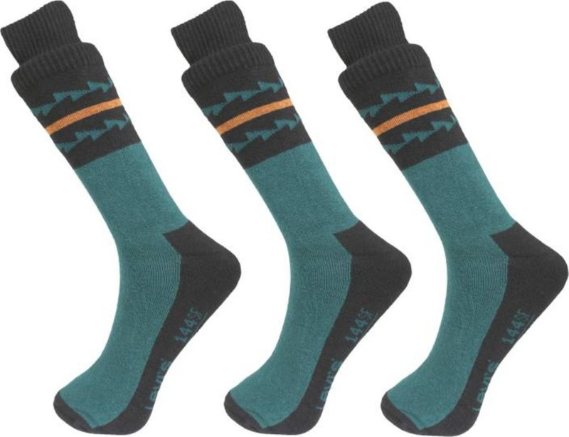 Levis Men Printed Crew Length Socks(Pack of 3)