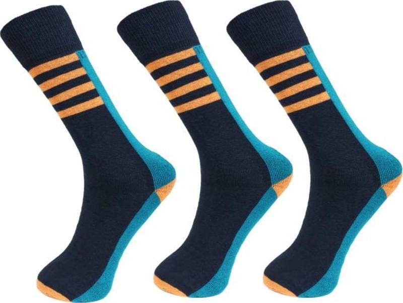 U.S. Polo Assn Men Self Design Crew Length Socks(Pack of 3)