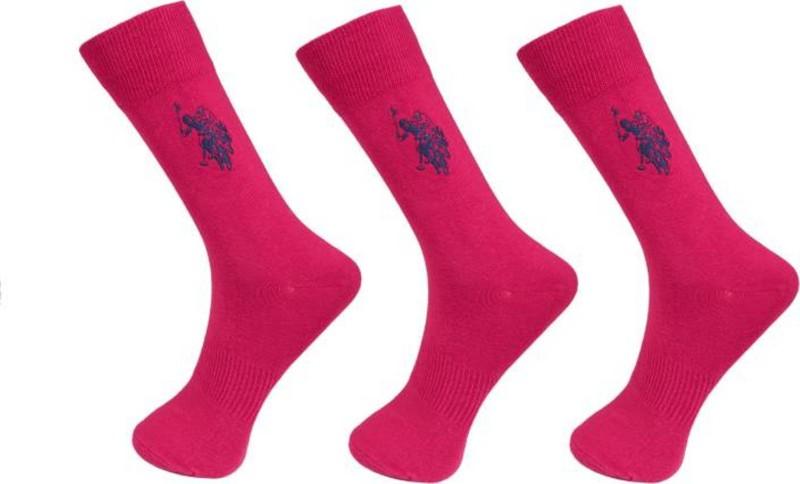 U.S. Polo Assn Mens Crew Length Socks(Pack of 3)