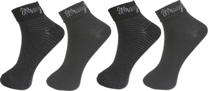 Wrangler Men Solid Ankle Length Socks(Pack of 4)