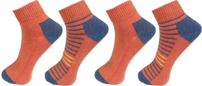 Levis Men Solid Ankle Length Socks(Pack of 4)