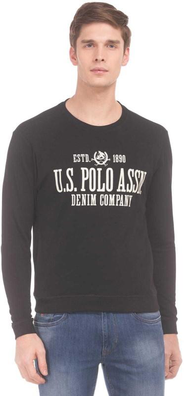 U.S. Polo Assn Full Sleeve Printed Men Sweatshirt