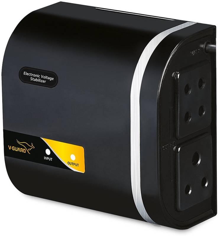 V-Guard CRYSTAL NANO for 71 cm (28) TV+Set topbox (Working Range: 90-280V; Upto 1 Amps) Electronic Voltage Stabilizer