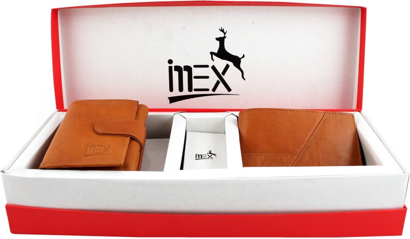 Imex International Men Tan Genuine Leather Wallet(4 Card Slots)