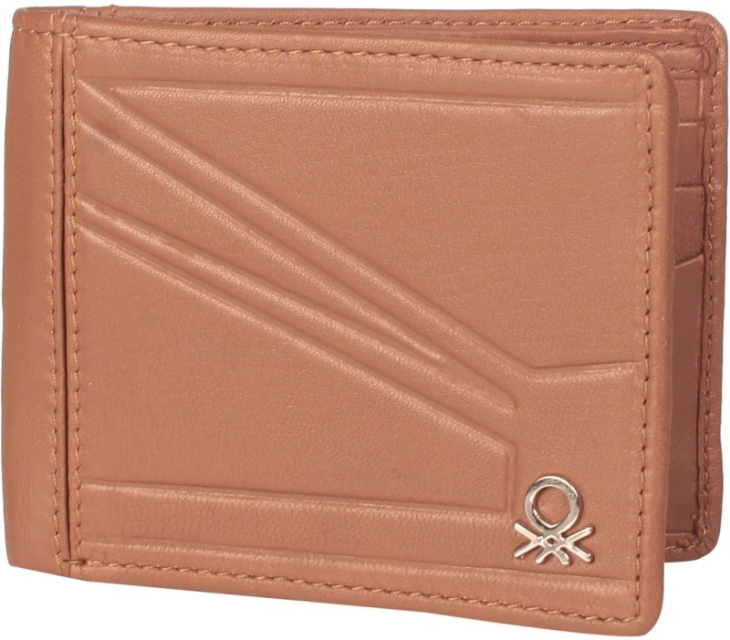 United Colors of Benetton Men Brown Genuine Leather Wallet(5 Card Slots)