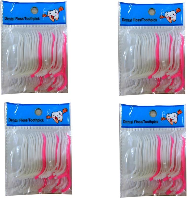 AVIKZ Dental Floss(80 mm, Pack of 4)