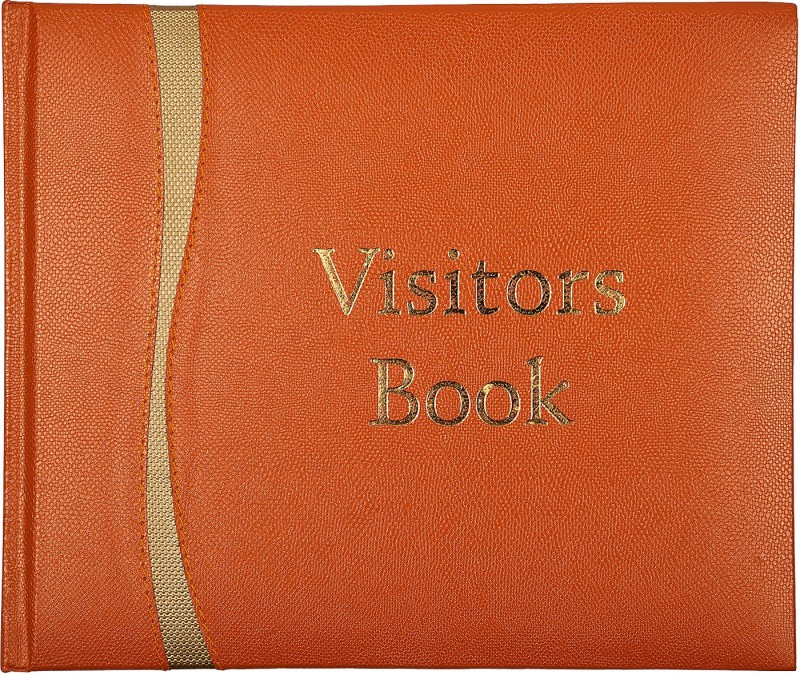 Atlas Visitors Book Small (Premium) Orange Regular Visitor's Book 196 Pages(Orange)