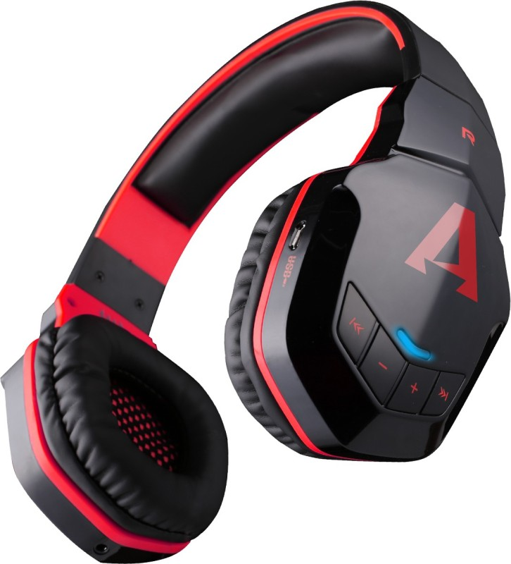 boAt Rockerz On Ear 510 Bluetooth Headset with Mic(Black, Red, Over the Ear)
