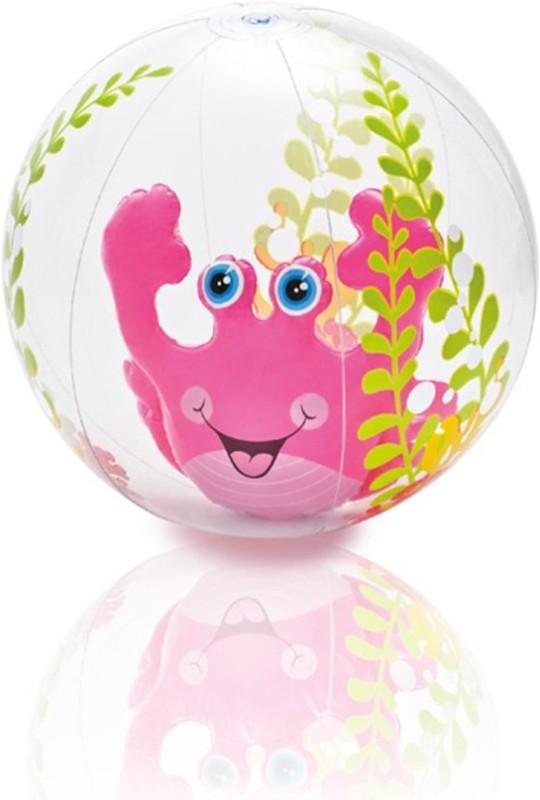 Intex ® Original Inflatable Aquarium Beach Ball (Pink) Inflatable Pool Accessory(Pink, Green)