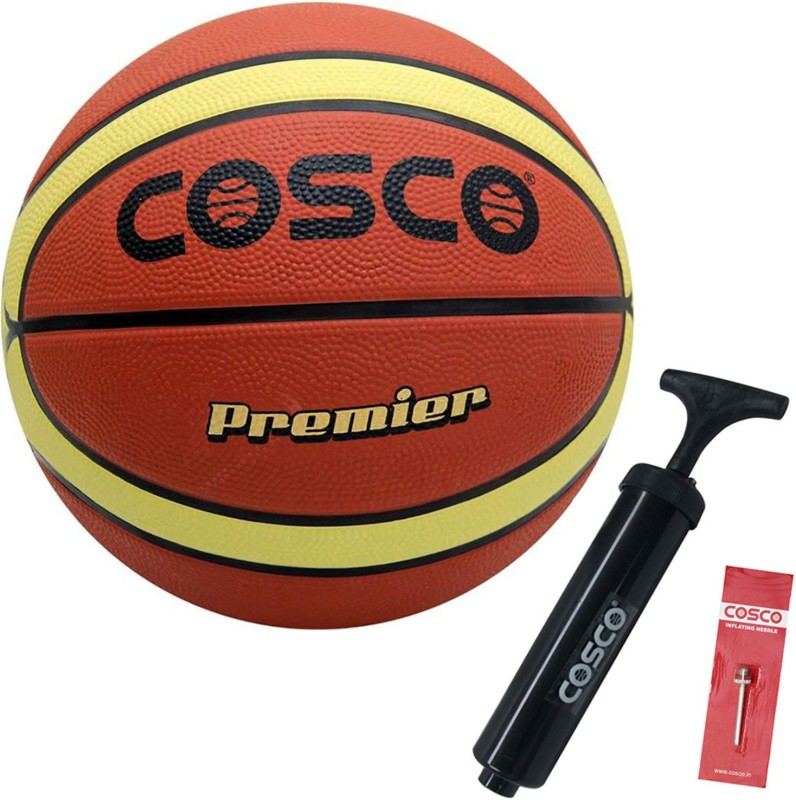 Cosco Premier Basketball Size-7 With Pump Basketball Kit