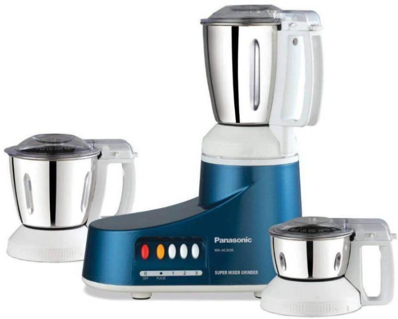 Panasonic MX-AC300S(BLU) 550 Mixer Grinder(Blue, 3 Jars)