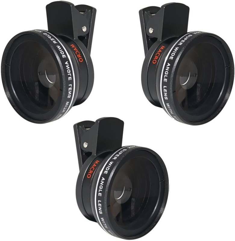 ROQ Sets of 3 Premium Series 0.45x Super Wide Angle and 12.5x Super Macro Mobile Phone Lens(Wide and Macro)