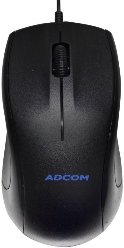 Adcom AM-2308 USB Wired Optical Mouse(USB, Black)