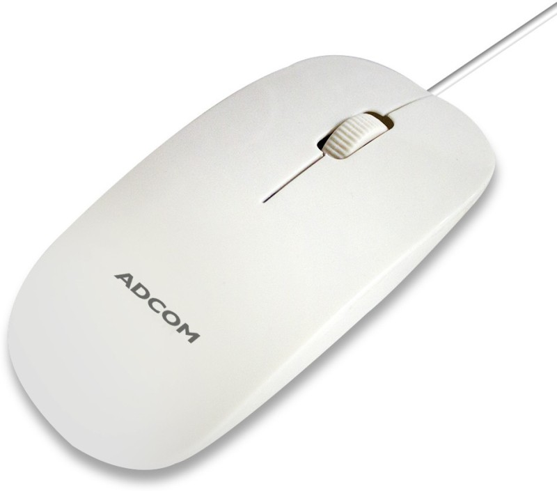 Adcom Wired 3212 Wired Optical Mouse(USB, White)