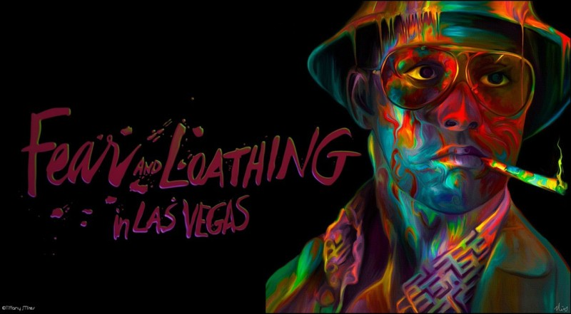Fear And Loathing In Las Vegas Loathing Trippy Drugs Print Poster on 13x19 Inches Paper Print(19 inch X 13 inch, Rolled)