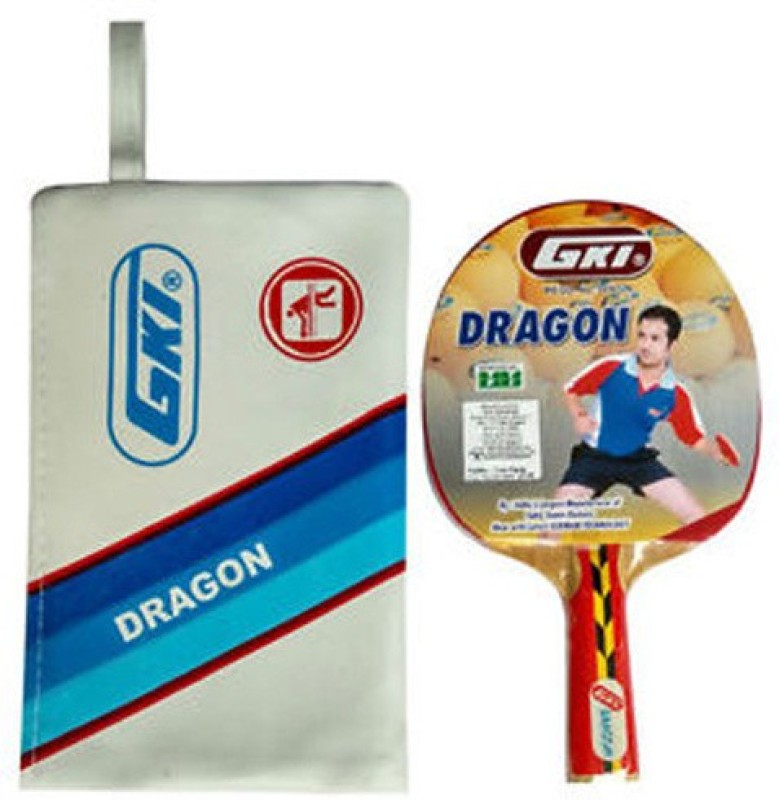 GKI Dragon In Foam Cover Multicolor Strung Table Tennis Racquet(G4, Weight - 323 g)