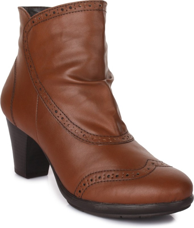 Bruno Manetti AY-105 Boots For Women(Tan)