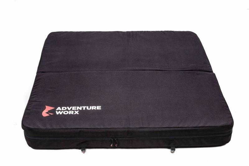 Adventure Worx Softland Crash Mat for Rock Climbing/Bouldering With Max Fall Force Absorption (Black) Sleeping Bag(Black)