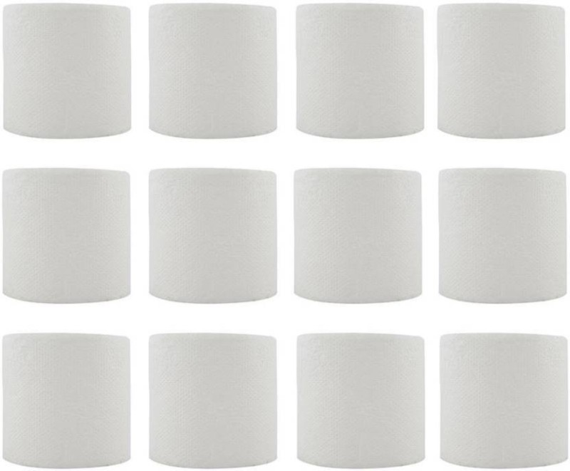 Puffin E-Ware Bathroom Tissue Toilet Paper Roll - 12 Rolls Pack Toilet Paper Roll(3 Ply, 250 Sheets)