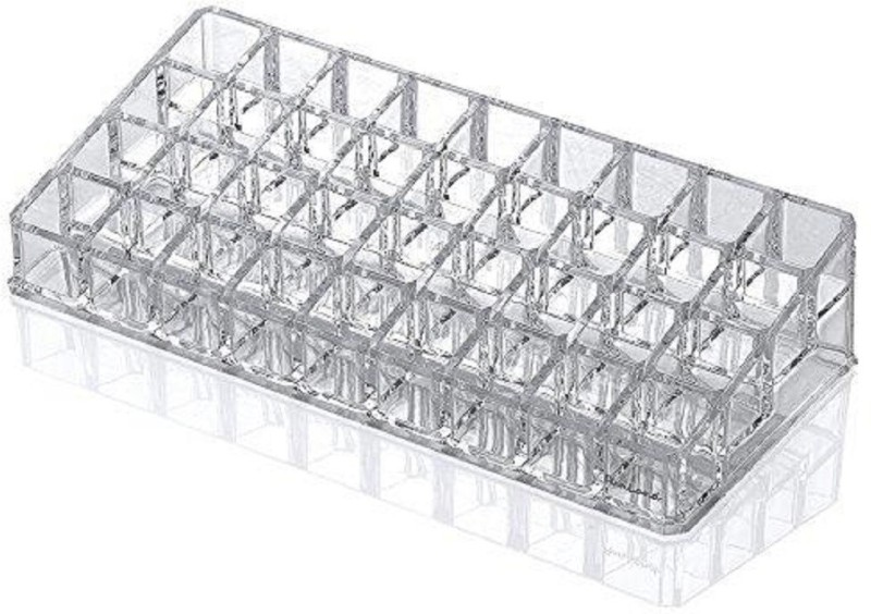 Sukot Clear Acrylic 36 Divider Lipstick Holder Lipstick Organizer Lipstick Case Compartment Organizer Vanity Box(Transparent)