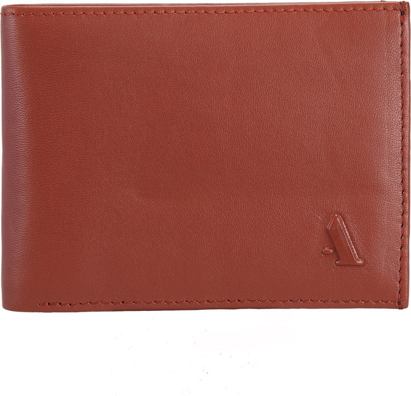 ADAMIS Men Tan Genuine Leather Wallet(9 Card Slots)
