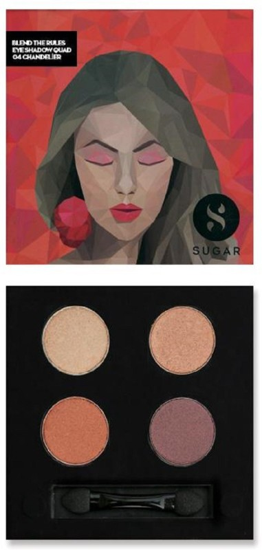 Sugar BLEND THE RULES EYESHADOW QUAD - 04 Chandelier 5 g(champagne gold, bronze gold, metallic rose gold and copper)
