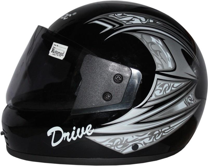ROTOMAC Full Face ISI Mark Solid Plastic Light Weight with Visor Motorbike Helmet(Black)