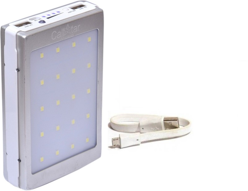 CallStar 13000 mAh Power Bank (CSSPB-13, Solar 20LED)(Silver, Lithium-ion)