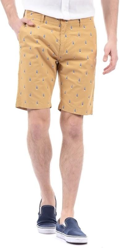 Izod Printed Men Brown Basic Shorts