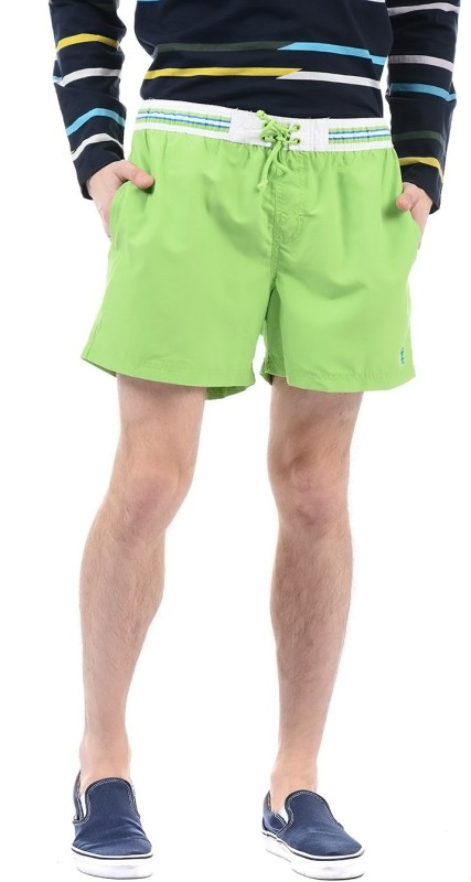 Izod Solid Men Green Beach Shorts