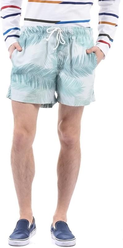 Izod Printed Men Green Beach Shorts